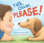 Picture Book Front Jacket Design for Talk, Oscar, Please!, published by Sterling Children's Books