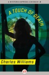 e-book cover design for a Charles Williams series: A Touch of Death (Open Road Media)