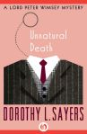 e-book cover design for a Dorothy Sayers series: Unnatural Death (Open Road Media)